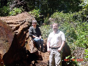 Jim and Denise on the Lady Bird Johnson Grove trail